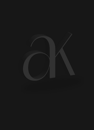 AK 3D Typographic Symbol Billy Boman Design
