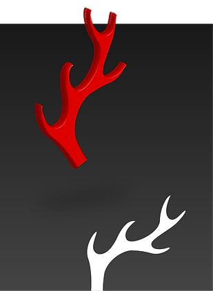 Red & White Antlers Billy Boman Design