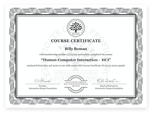 Human Computer Interaction (HCI) Course