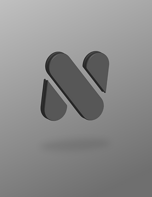 3D Negative Space Letter N Billy Boman Design