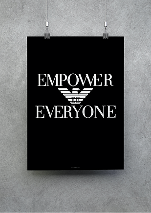 Empower Everyone Poster Billy Boman Design