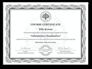 Information Visualization Course Certifi