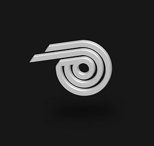 Geometric Letter P 3D Symbol Billy Boman Design