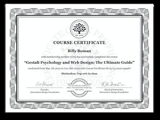 Gestalt Psychology and Web design Certif