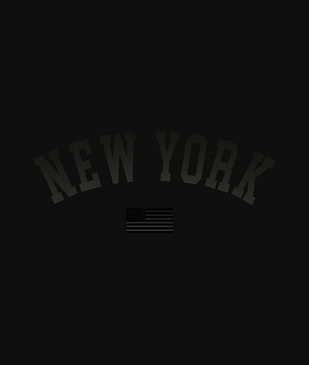 NYC Black on Black Flag Billy Boman Design