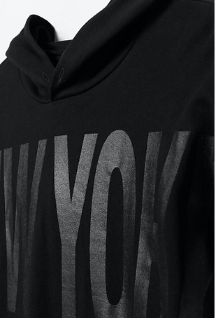 NYC Divided Grey Hoodie Billy Boman Design