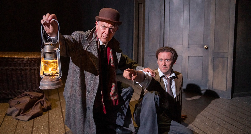 Robert Goodale as Arthur Kipps and Antony Eden as The Actor in The Woman in Black at the Palace Theatre, Manchester. All photos Tristram Kenton.