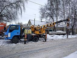 Аренда ямобура в Воронеже, бурение под сваи столбы заборы, услуги ямобура со стрелой