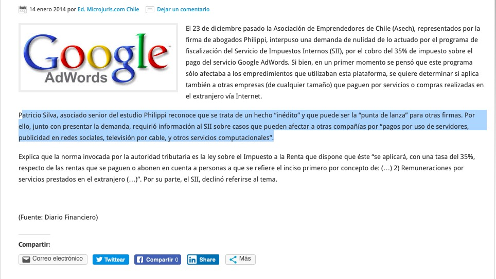 Caso Adwords