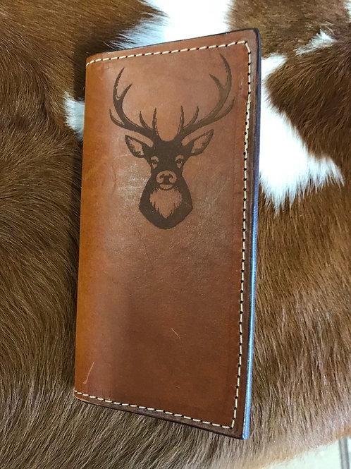 Leather Wallet- Deer Head