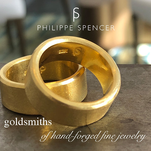 Pure 22K Gold Raw Hand-Forged Band