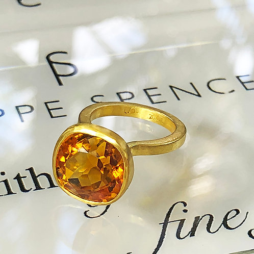 9.2 ct Cushion Cut Gold Citrine set in 22K Gold