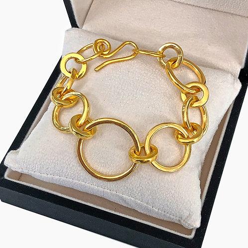 20K (+) Solid Gold XXL Badass Bracelet