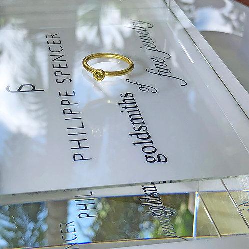 .21 ct Natural Celadon Color Rose Cut Diamond Ring (Nestable)