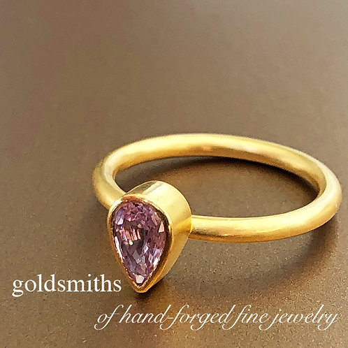 .78 ct Teardrop Pink Sapphire Ring  (Nestable)