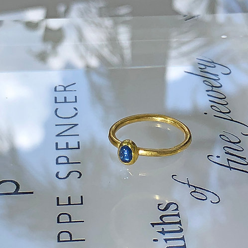 .54 ct Light Blue Oval Cabochon Fancy Sapphire set in 22K Gold