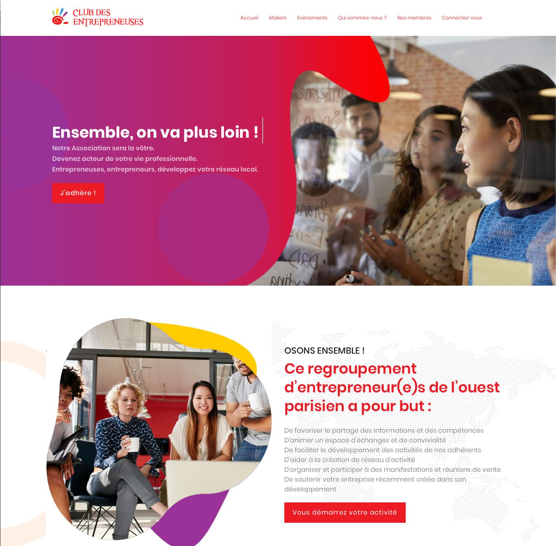 Home page Club des entrepreneuses