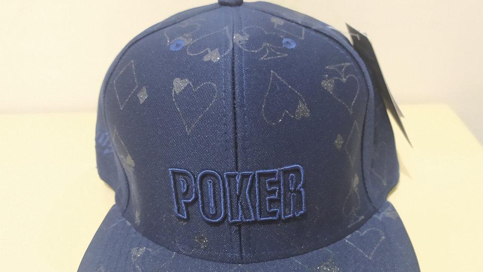 Boné Poker Azul Premium