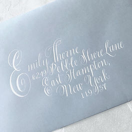 White Copperplate Drop Cap Calligraphy | Lettering Matters