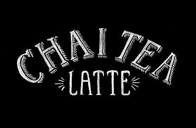 Chalk Lettering Chalkboard Signage Chai Tea | Lettering Matters