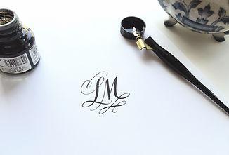 Modern Calligraphy Pen Ink Monogram Submark LM | Lettering Matters