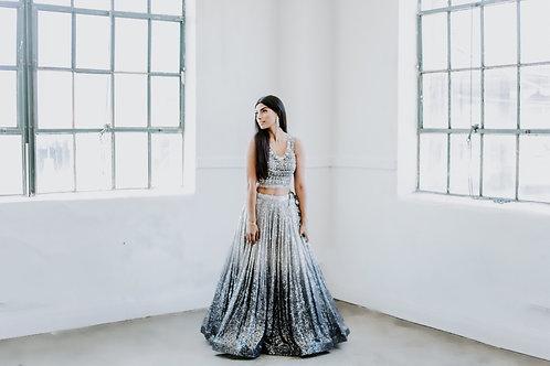 Gudhiya Lengha in Silver