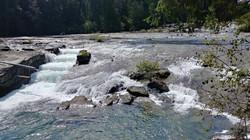 Flowing Puntledge river  - Bonnie Luterb