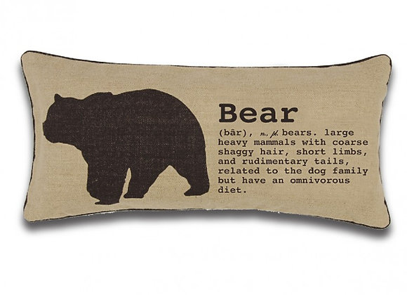 Bear (Lodge) Toss Cushion