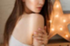 Model Posing Bare Shoulder