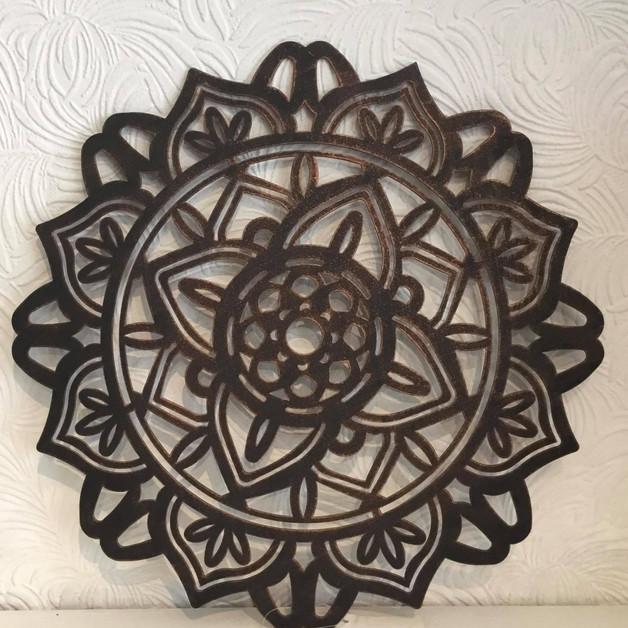 Appliqué mural Mandala