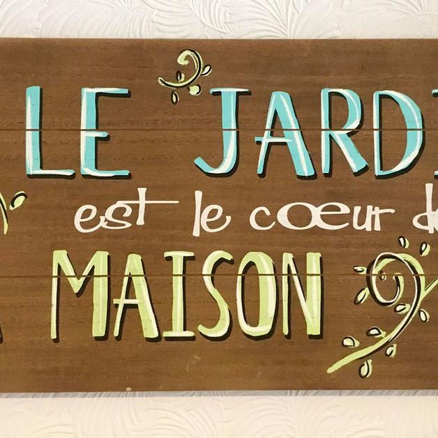 Plaque murale Le Jardin