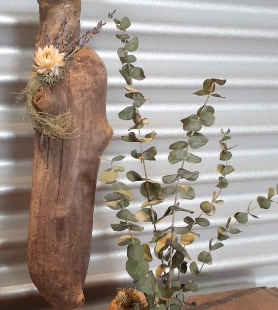 Décoration en bois et eucalyptus Création Douce Gratitude