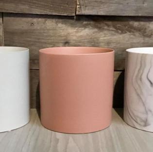 Pot céramique blanc, marbre (rose non disponible)
