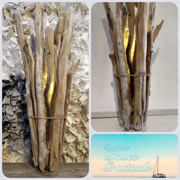 Lampe en bois (Création Douce Gratitude)