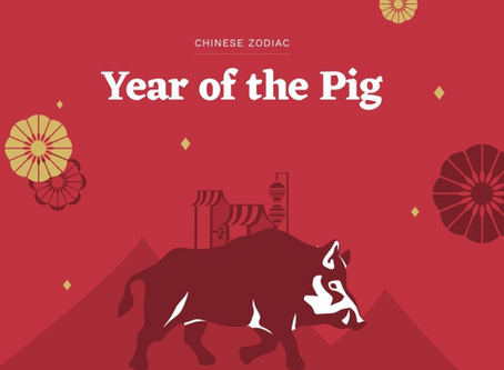 2019 Chinese NY: Year of the Earth Pig!