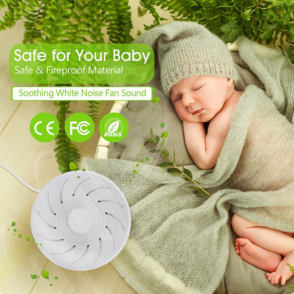 baby sleep with Pictek fan white noise machine
