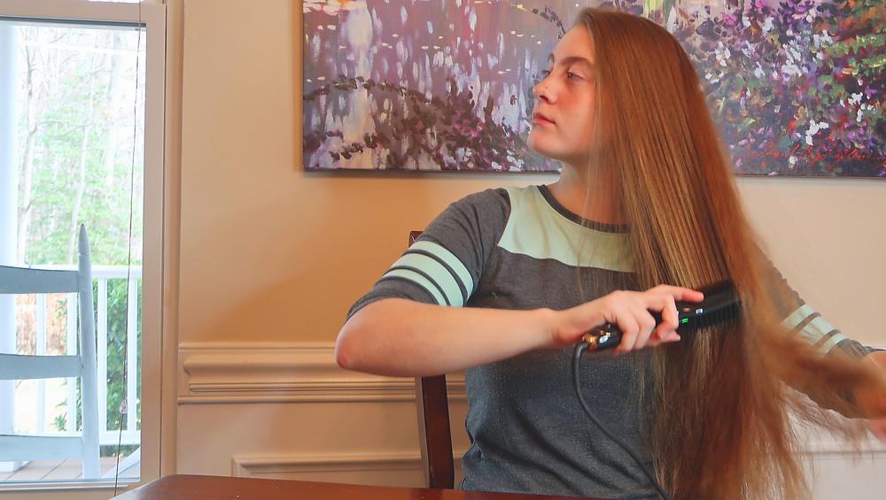 Hair Straightening Brush O'Bella