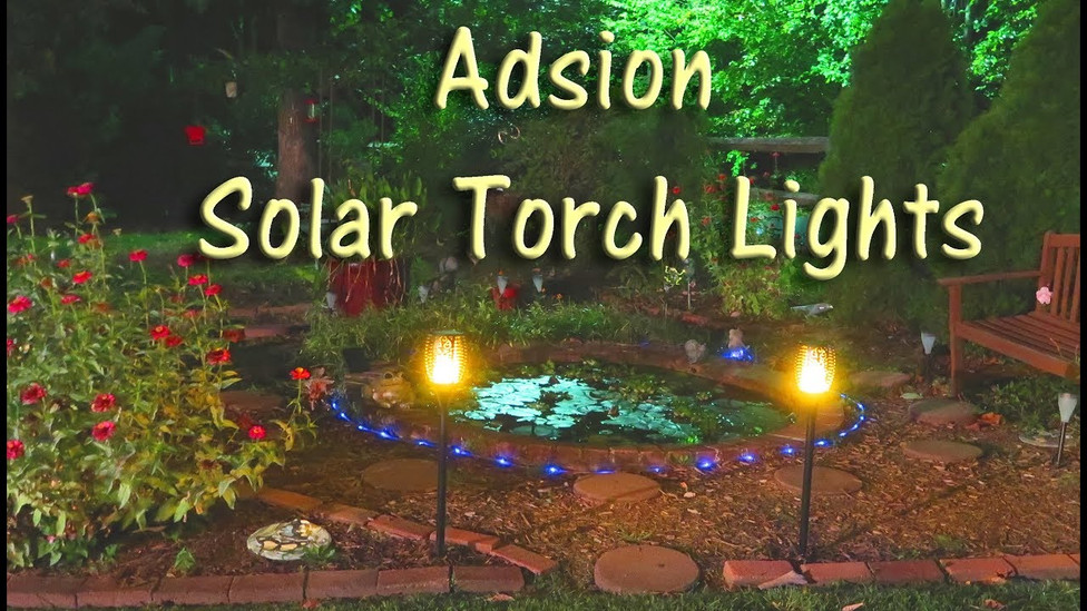 Solar Torch Lights Add Drama