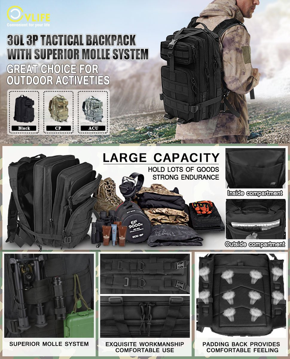 tactical military backpack rucksack