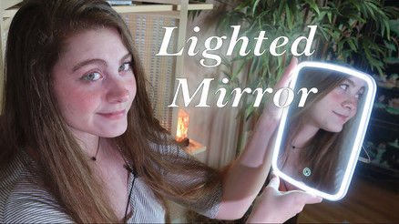 Lighted Portable Makeup Mirror