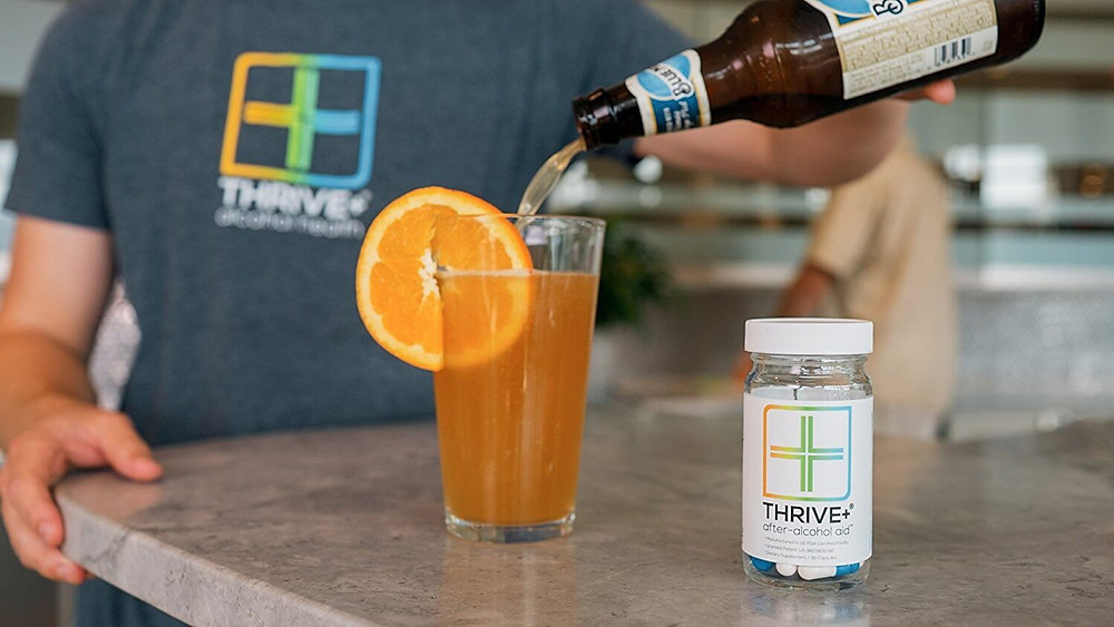 shark tank product Thrive+ anti-alcohol aid
