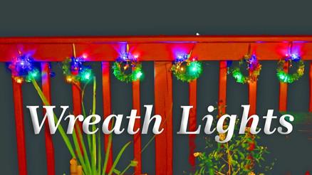 WREATH Holiday🎄Christmas STRING LIGHTS & Colorful Balls!