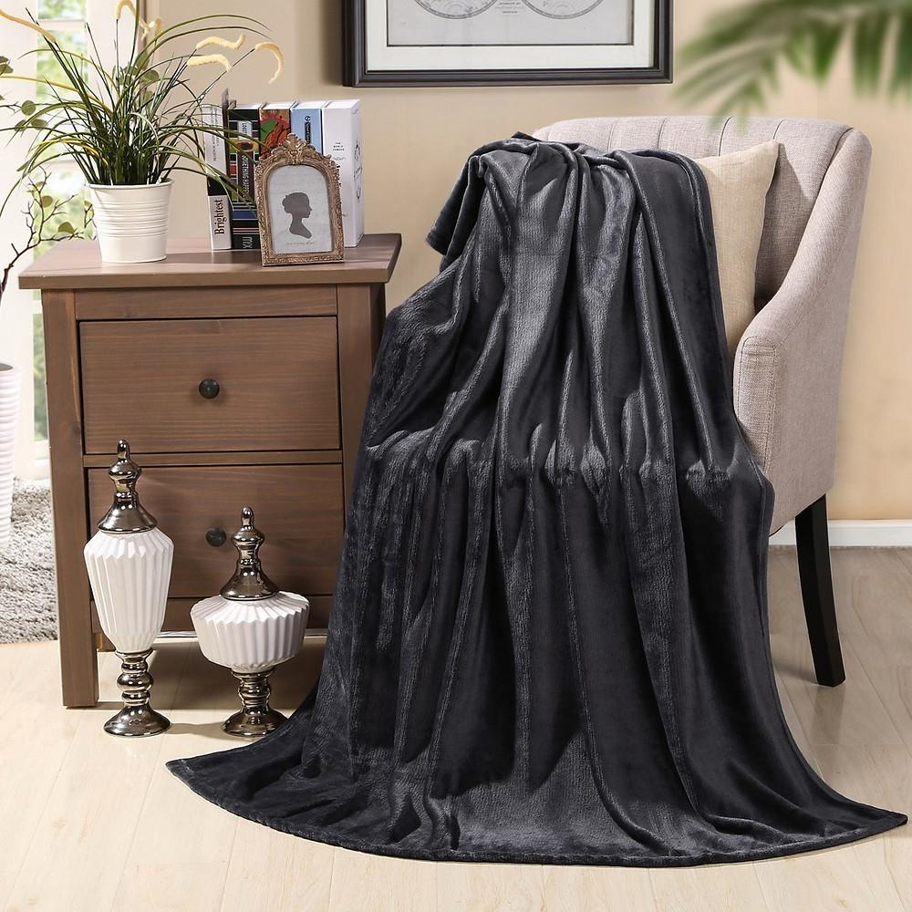 Hyseas Microfiber Blanket Black