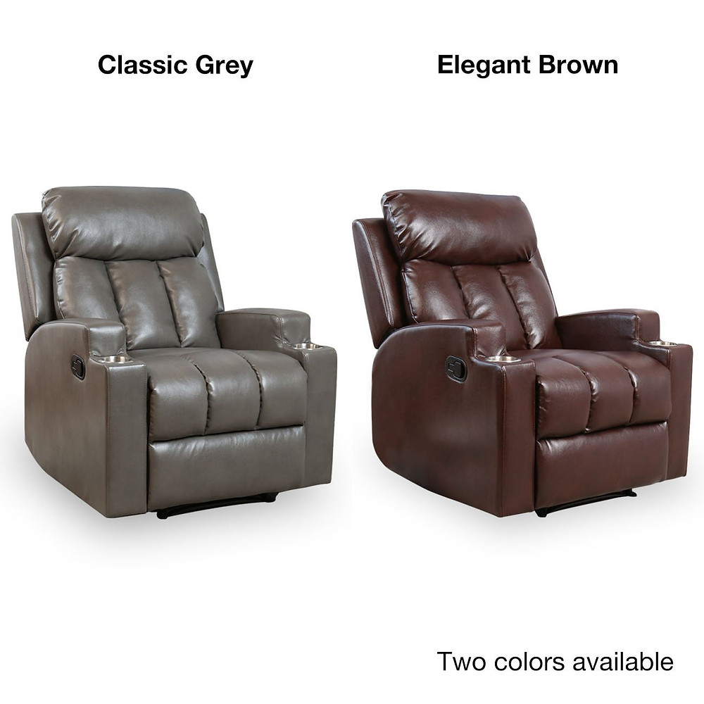 recliners by Bonzy Home in Grey and Brown