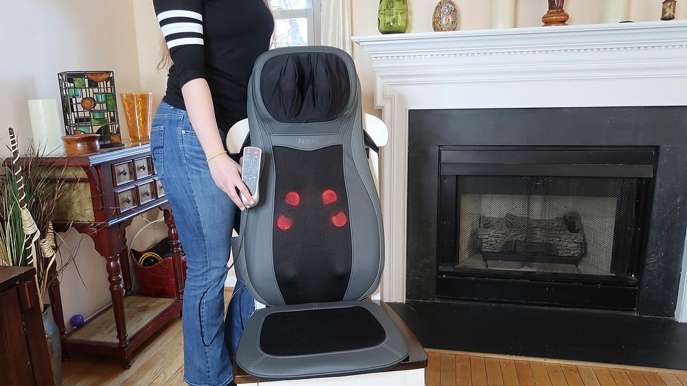 Naipo seat cushion massager heat shiatsu girl