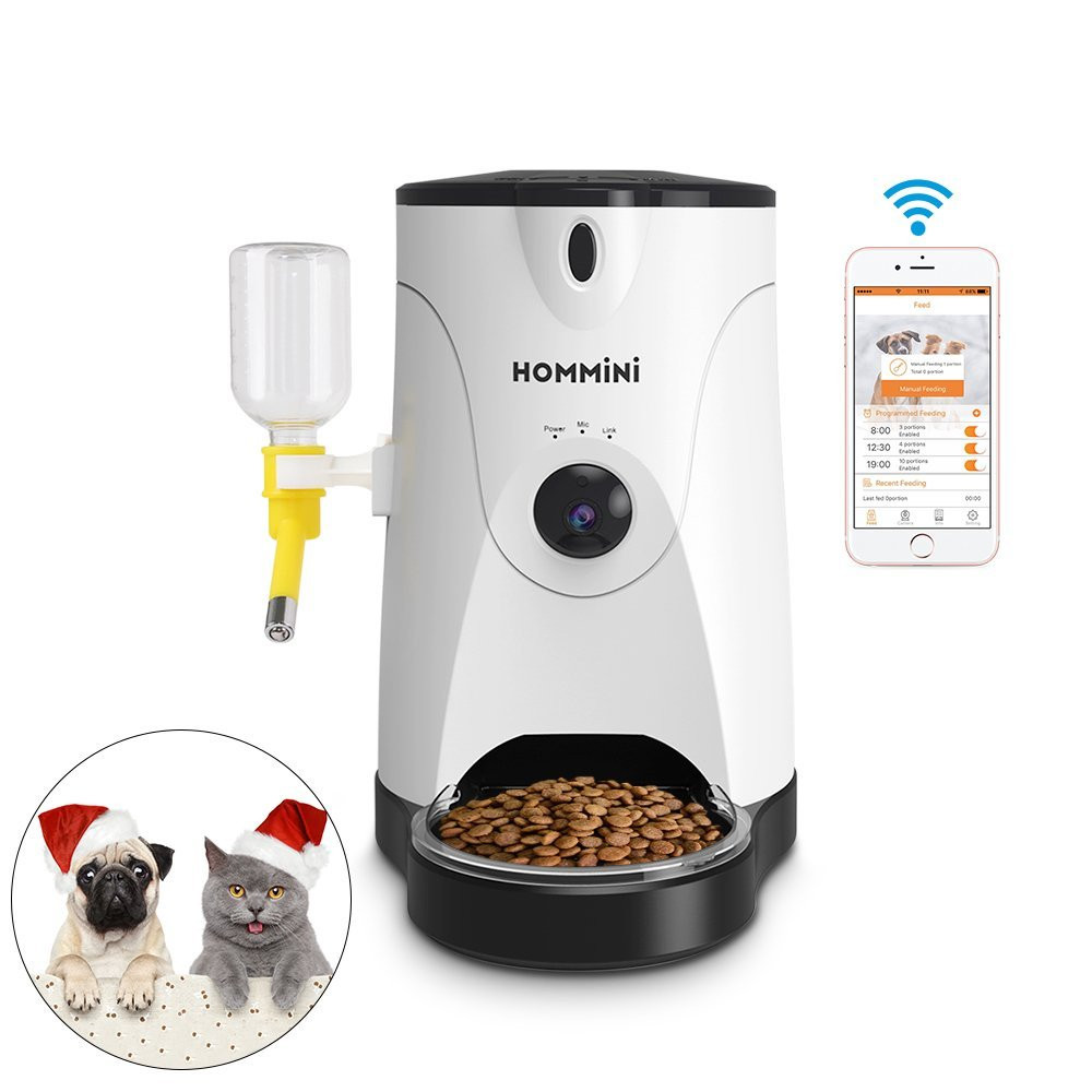 Hommini Automatic Pet Feeder with Water Bottle