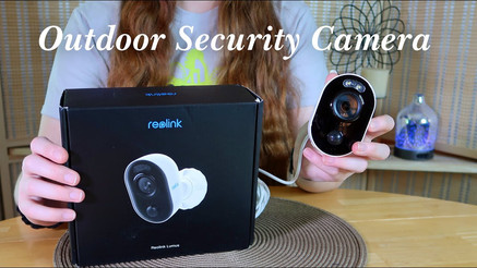 Outdoor Security Camera with Light!