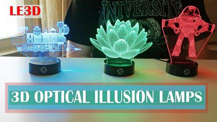 LE3D Optical Illusion Light