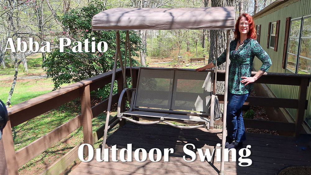 abba patio outdoor swing with canopy