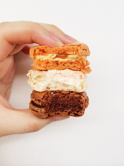 Salted Caramel, Vanilla, Chocolate